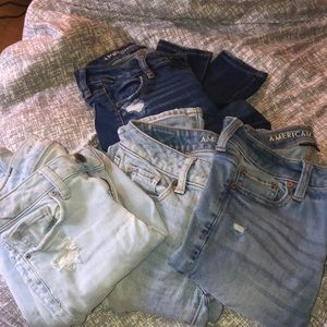 Bundle of American Eagle ripped jeans